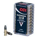 22LR, 45 GR SUPPRESSOR, CCI, 50 RDS